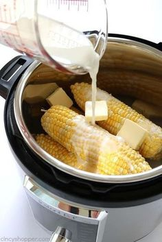 If you are looking for the best Instant Pot Corn on the Cob, this one is it. It's creamy, sweet, and delicious. You will find it super easy with simple ingredients. Instant Pot Corn on Best Instant Pot Recipe, Instant Recipes, Instant Pot Dinner Recipes, Instant Pot Meals, Instant Pot Pressure Cooker, Pressure Cooker Recipes, Pressure Cooking, Slow Cooker, Pressure Cooker Ribs