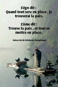 peace, silent wind, old Chineese, cormorants . Positive Mind, Positive Attitude, Positive Quotes, Cute Captions, Quote Citation, Marca Personal, French Quotes, Papi, Sweet Words