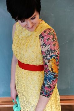 Cool sleeve. #tattoo #tattoos #ink