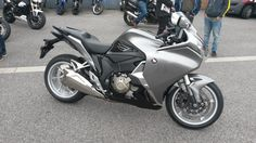 A superb Honda VFR1200 awaiting collection from its lucky new owner