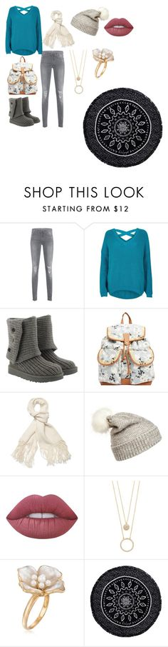 """""""Dylien Ch.1"""" by hogwartsnerd82001 on Polyvore featuring 7 For All Mankind, River Island, UGG, Billabong, Helmut Lang, WithChic, Lime Crime, Kate Spade, Ross-Simons and The Beach People"""