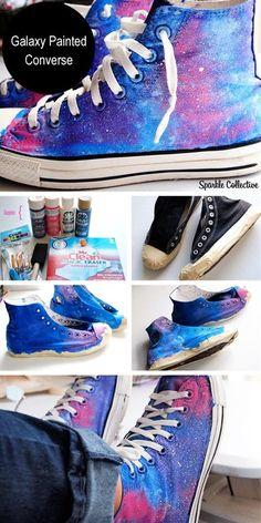 Galaxy Painted Converse