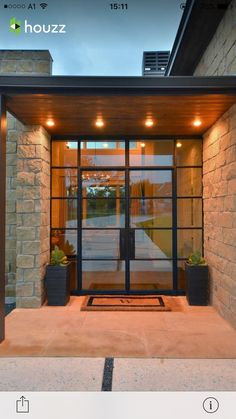 New Modern Glass Front Door Entrance House Ideas Modern Front Door, Front Door Design, Entrance Design, Contemporary Front Doors, Unique Front Doors, Modern Porch, Home Modern, Window Design, Modern Luxury