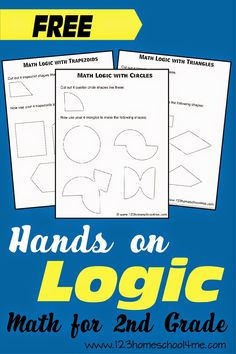 Shape Logic Problems for Grade Math Problem Solving Activities, Math Activities For Kids, Fun Math, Math Games, Teamwork Activities, Logic Math, Logic Puzzles, Logic Questions, First Grade Math