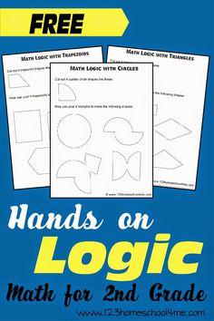 Shape Logic Problems for 2nd Grade Math #handsonmath #mathgames #homeschool