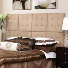AZ Home and Gifts nexxt Luxe 18 in. x 18 in. 8 Wall Panel Headboard Set in Microsuede Taupe-FN19234-0 - The Home Depot
