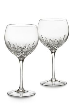 $159.95-$160.00 Waterford Crystal Lismore Essence Balloon Wine Pair - The revolutionary Lismore pattern with a fresh, more slender shape - exciting for all, from a bride to the wine enthusiast. With a lighter walled and oversized bowl accompanied by a thinner stem, Lismore Essence is exquisite and statuesque. http://www.amazon.com/dp/B000VIHVIA/?tag=pin2wine-20
