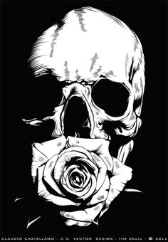 THE SKULL by claudio castellano, via Behance