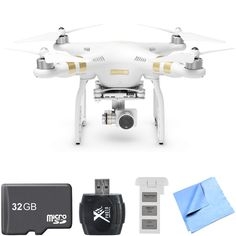 DJI Phantom 3 4K Advanced Quadcopter Drone w/ 4K Camera Two Battery Bundle includes Quadcopter, Spare Battery, 3 #ad