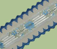Blue scalloped edge ribbon (French)  http://www.hymanhendler.com/Floral/floral-vintage-ribbon-Pat.%2017864%20Col