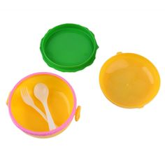Children Hamburger Bento Lunch Box Food Container Storage with Spoon Fork Popular New. Click visit to buy #dinnerware