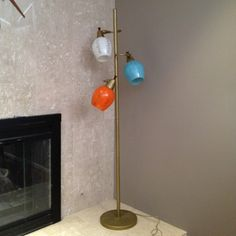 Vintage Mid Century Pole Lamp Eames Danish Modern Retro Floor   eBay