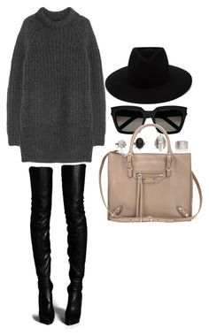 """Style #11358"" by vany-alvarado ❤ liked on Polyvore featuring Yves Saint Laurent, NLST, Balenciaga and rag & bone"
