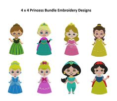 Princess Embroidery Designs  Disney Princess Full by StitchValley