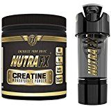 Micronized Creatine Monohydrate Powder  Unflavored  5 G Per Serving  60 Servings | With Hight tech Shaker | Best Creatine Bodybuilding Supplements  Pre Workout Endurance Supplements by NutraFX