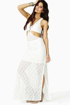 Daisy Crochet Maxi Dress