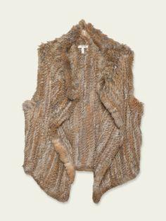 soft fur vest by Joie