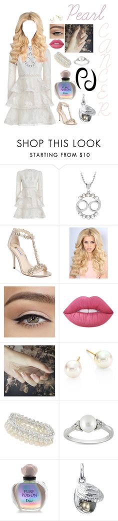 """""""Birthstone Saga Part 6 ~ Pearl"""" by lil1daffodil2baby3girl4 ❤ liked on Polyvore featuring Zimmermann, INC International Concepts, Lime Crime, GUiSHEM, Majorica, Dorothy Perkins, Ice, Christian Dior and Links of London"""