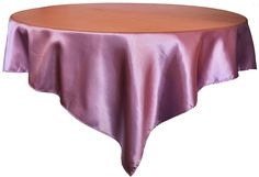 Wisteria Satin Table Overlay Topper, Wholesale Square Satin Table Overlays, Satin  Table Toppers Over 55 Colors, Cheap Satin Wedding Table Overlays Sale.