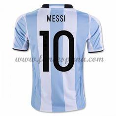 Camisetas De Futbol Barata Argentina 2016 Lionel Messi 10 Primera Equipación