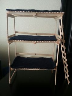how to make a doll bunk bed out of cardboard