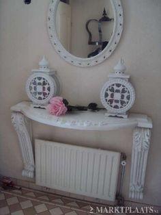 Brocante barok wandtafel sidetable for Marktplaats spiegel