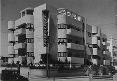 La « Maison Landa », 18 rue Georges Eliot, Tel-Aviv. Architectes : Avraham Berger & Y. Mandelbaum. (1935)