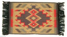 Placemat Table Mat Native American / Southwestern Fringed Bold & beautiful,  these woven cotton mats are a lovely addition to any table setting $7.95 w/ FREE shipping within the USA. #placemat #southwest #homedecor