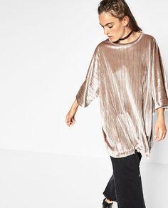 VELVET SACK-STYLE DRESS