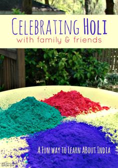 "What is Holi? I'll admit 12 years ago before I married my ""Indian prince"" I . Hindu Festivals, Indian Festivals, World Thinking Day, Holidays Around The World, Preschool Activities, Kids Learning, Projects To Try, Social Studies, Multicultural Crafts"