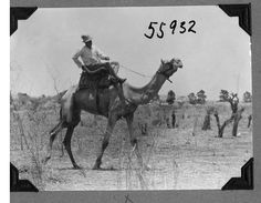Expedition member riding a camel