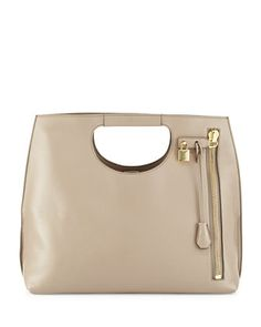 Alix Zip & Padlock Shopper Tote Bag, Taupe by TOM FORD at Neiman Marcus.