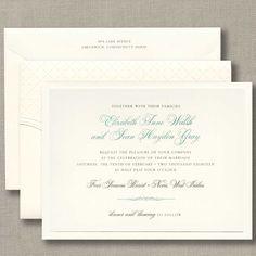 Embossed Pocket Folder Layered Invitation