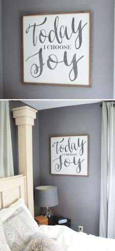 It's a choice you have to make each day! Life is so much sweeter and fulfilling if you choose joy each day! Today I choose Joy Framed wood sign, Quote art, Bedroom sign, Inspirational decor, Living room art, Office wall decor, farmhouse sign, rustic decor, home decor, farmhouse decor, rustic sign #ad