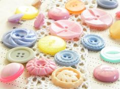 spring pastel buttons