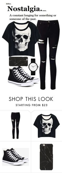 """Nostalgia"" by exotic-demon-wolf ❤ liked on Polyvore featuring Miss Selfridge and Converse"