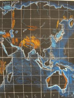 Waldorf ~ 8th grade ~ Meteorology ~ chalkboard drawing