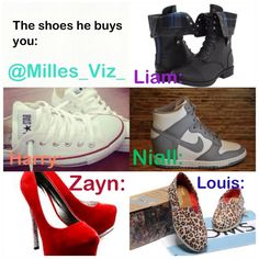 Harry and I were ment to be! Converse are the best shoes on EARTH!!!!!!And Louis and Nialls!!!!!!