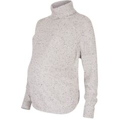 Séraphine Alma Speckled Cape Roll Neck Maternity Jumper ($79) ❤ liked on Polyvore featuring maternity