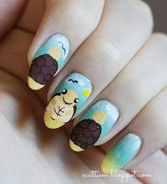 cute turtle nail art