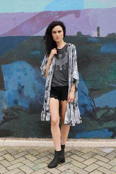 RISING SMOKE KIMONO by Raga LA | Mable Lane Clothing