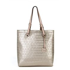 Michael Kors Jet Set Monogram Mirror Metallic Tote  2/2012