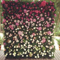 flower wall wedding - Google Search