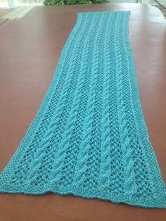 Free Pattern: Cables and Lace Wrap by Courtney Baker