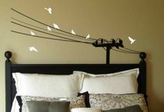 This unique powerlines with birds decal is great for your living room or your little lineman's bedroom.