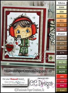 Passionate Paper Creations: Color Palettes  November Preview C.C. Designs!
