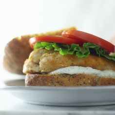 When you want breaded chicken but you don't want to eat all your day's calories in one meal - here's a lighter take on a chicken sandwich that's perfect for lunch.