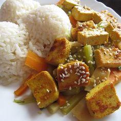 Marinované tofu se zeleninou | Lowfodmapdieta.cz Tofu, Food And Drink, Gluten Free, Vegetarian, Vegan, Ethnic Recipes, Diet, Glutenfree, Sin Gluten