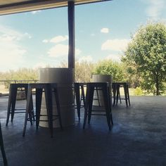 New barrels and chairs on the deck! Perfect for your next celebration! #lazyriverestate #lazyriverevents #celebratewithus #44gallondrums #recycle #smiledubbo