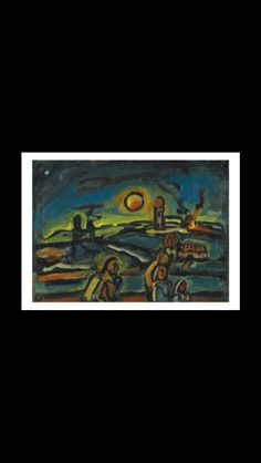 Georges Rouault - Paysage biblique, c. 1946-1948 - Oil on paper mounted on cradled panel - 49,4 x 68,2 cm